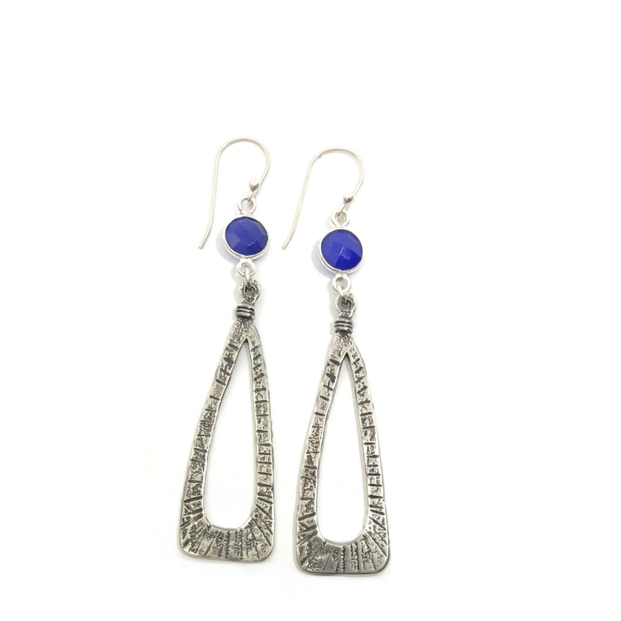 Tempest Earrings on Blue Onyx