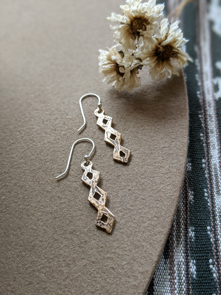 Small Diamondback Earrings