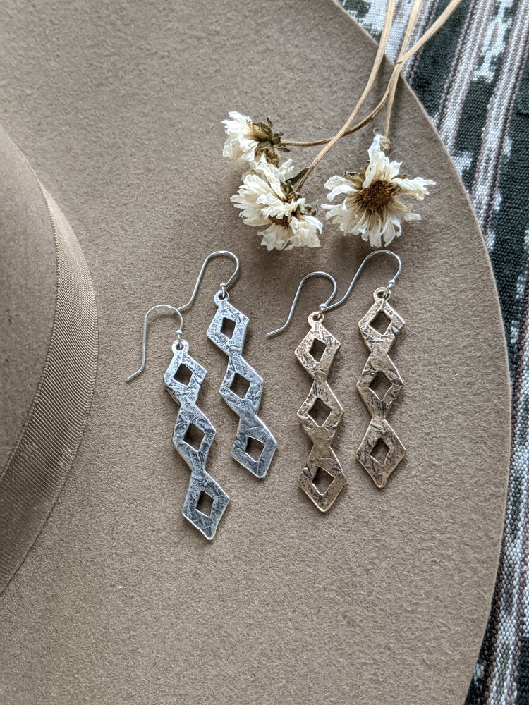 Large Diamondback Earrings