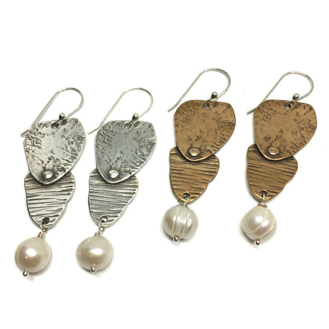 Aspen Earrings with Pearl