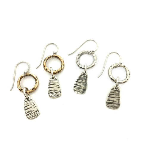 Bark Bit Hoop Earrings