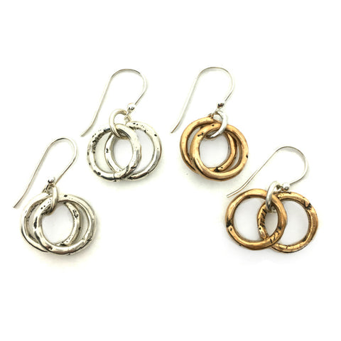 Dangling Small Hoop Earrings