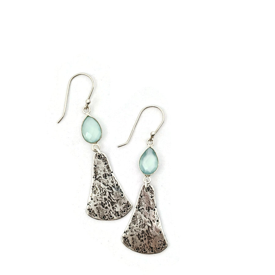 Sea Green Chalcedony Dangle Earrings II