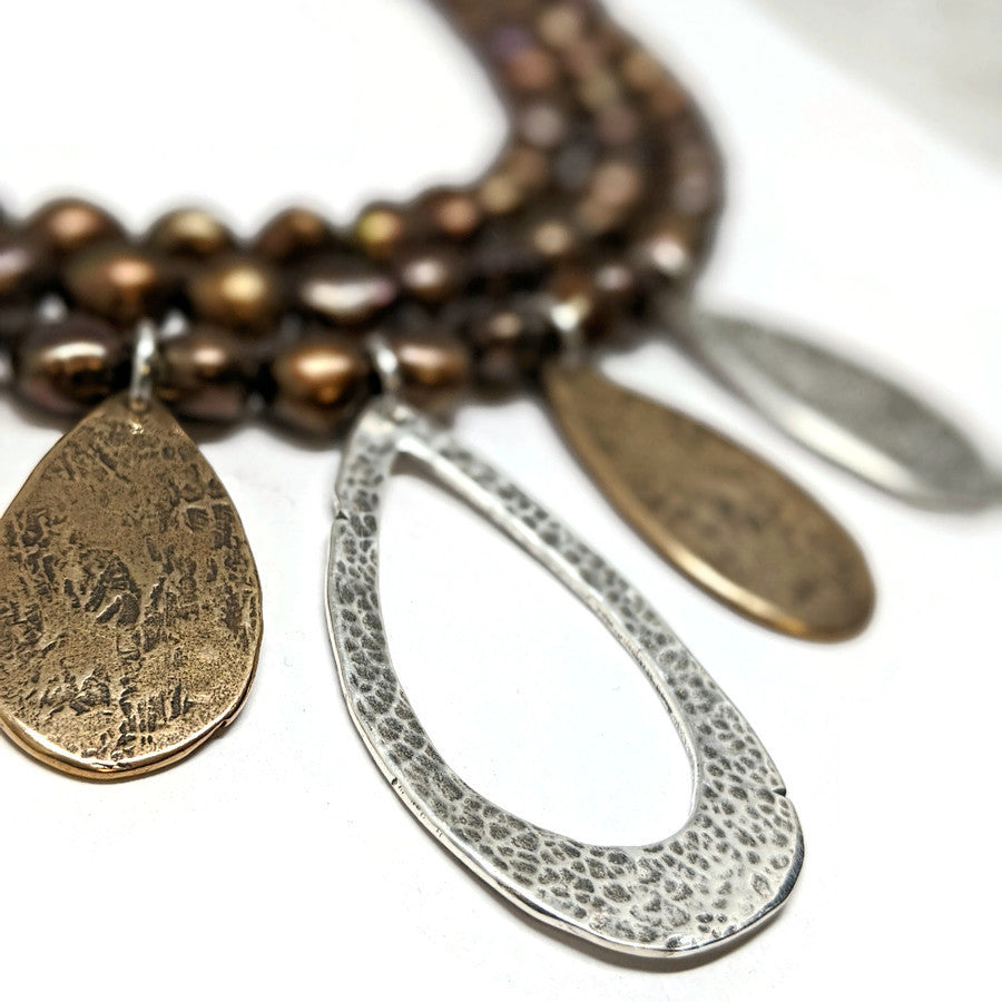 Statement Necklace - Mixed Metals