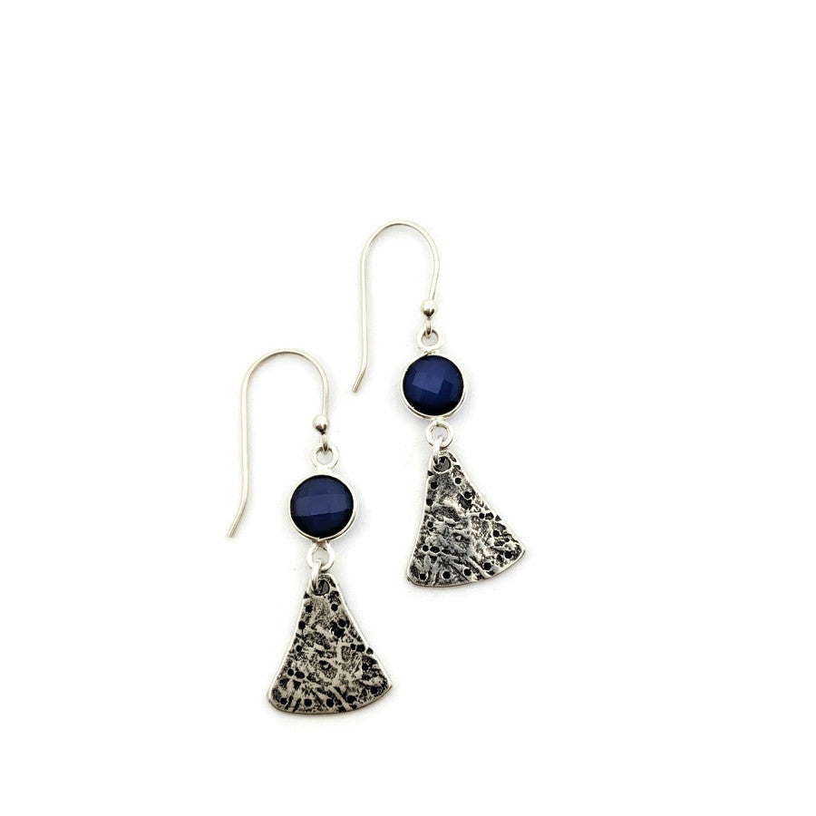 Virga Blue Onyx Dangle Earrings