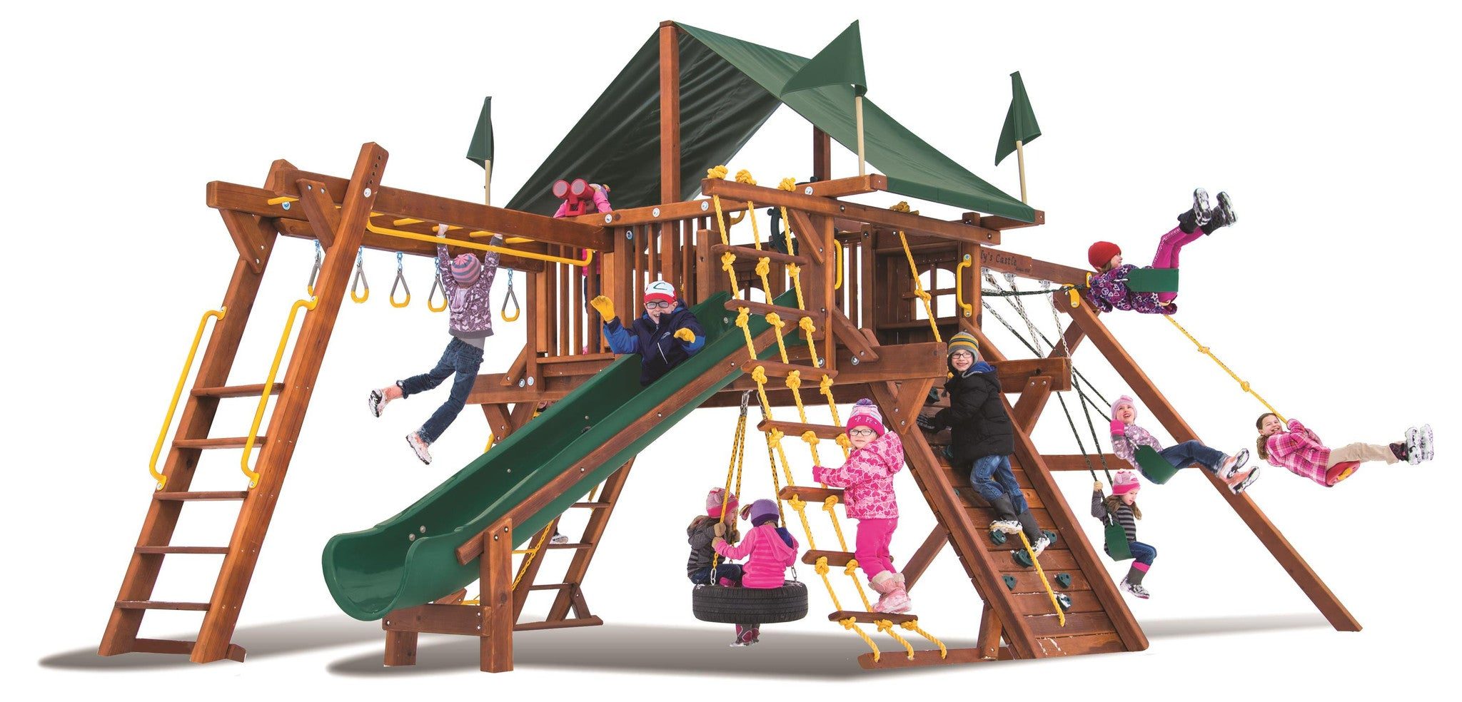sc 1 st  Great Outdoors Play Systems & Rainbow Castle Pkg III Supersized u0026 Nicely Equipped (61A)