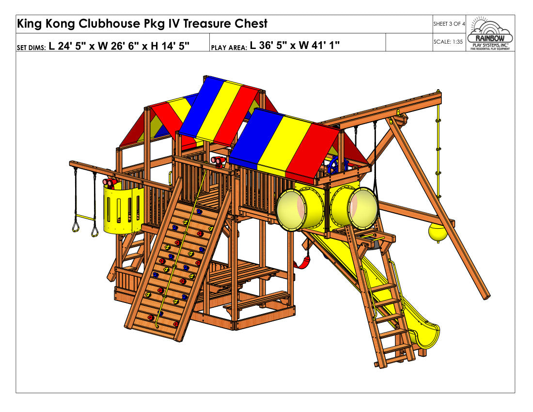 king kong clubhouse pkg iv treasure chest 89a