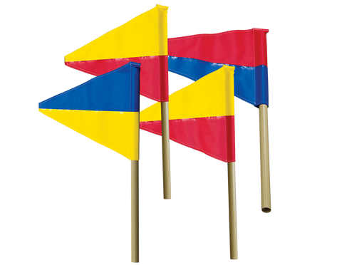 Set of 4 Flags (8D)