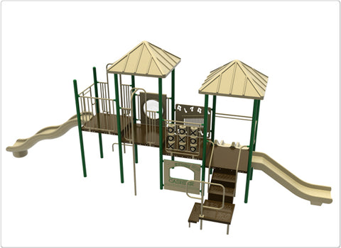 Acadia Commercial Steel Play System - INSTALLED