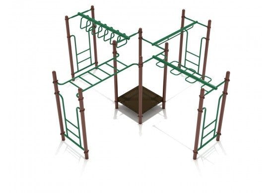 Four Corners Commercial Steel Play System - INSTALLED
