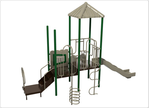 Glacier Bay Commercial Steel Play System - INSTALLED