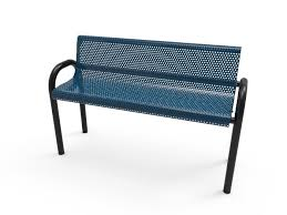Modern steel bench  -  Installed