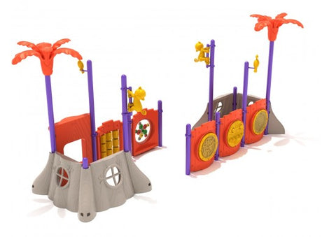 Monkey Mania Commerical Steel Play System