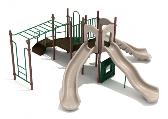 Moon Mountain Commercial Steel Play System - INSTALLED