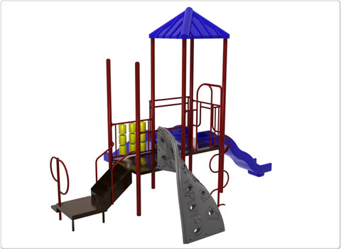 Rainier Commercial Steel Play System - INSTALLED