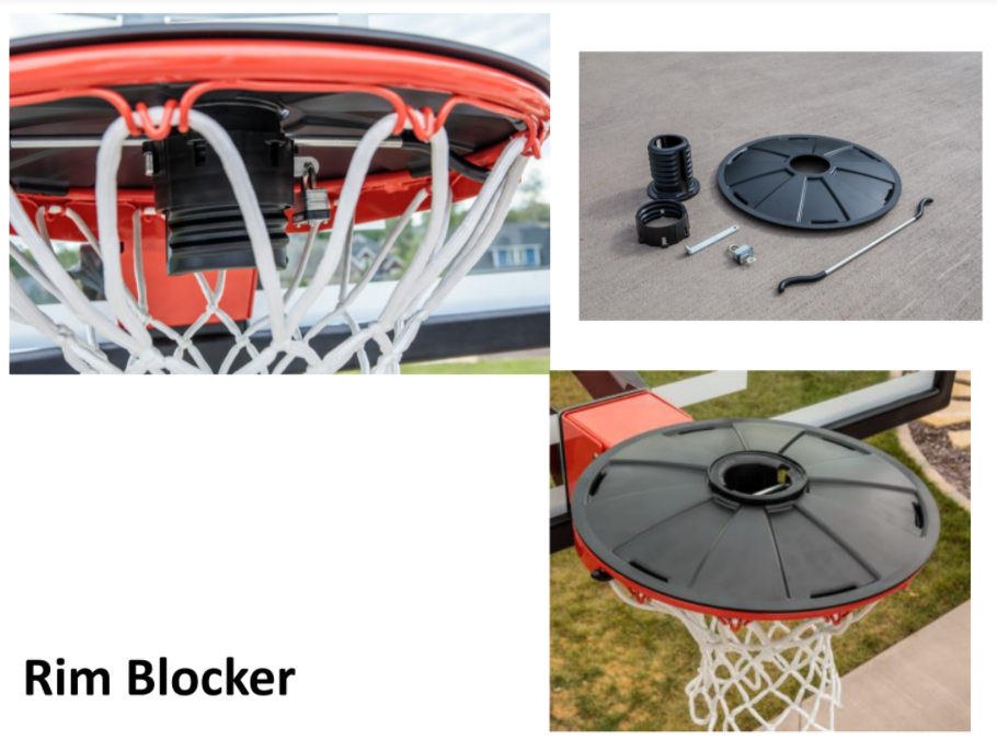 Basketball Rim Blocker