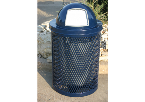 Trashcan with Dome lid -  Installed