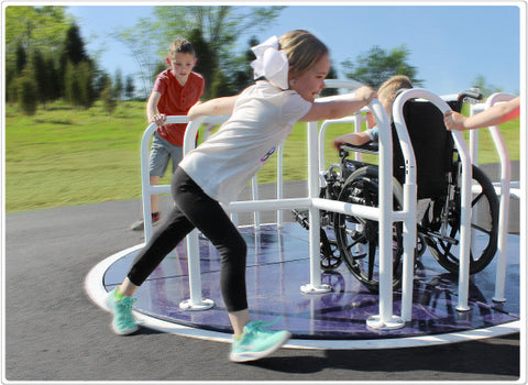Wheelchair Merry Go Round -Installed