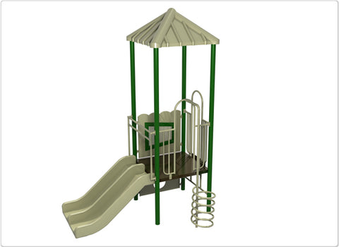 White Sands Commercial Steel Play System - INSTALLED