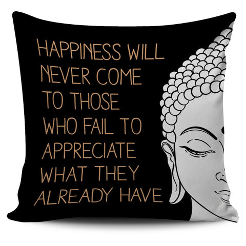 Happiness Premium Pillow Cover