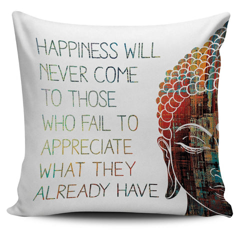 Happiness Pillow Cover