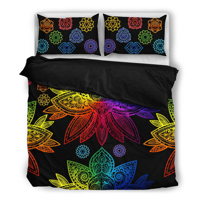 Lotus & Karmas Bedding Black