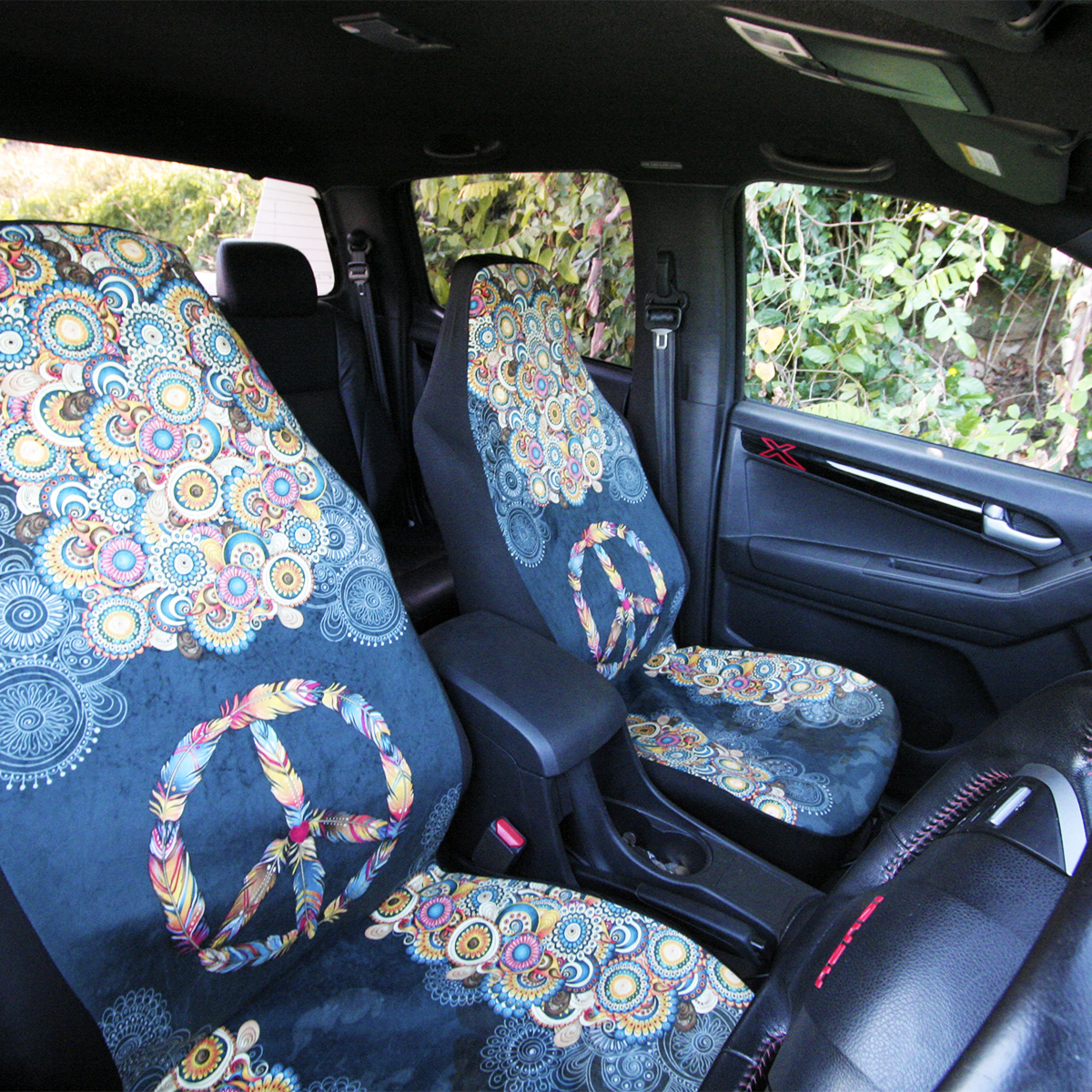 Car Seat Covers Bags Peace And Mandala Feathers