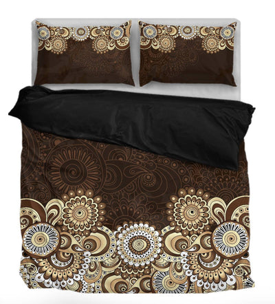 Colorful Mandala Dark Brown
