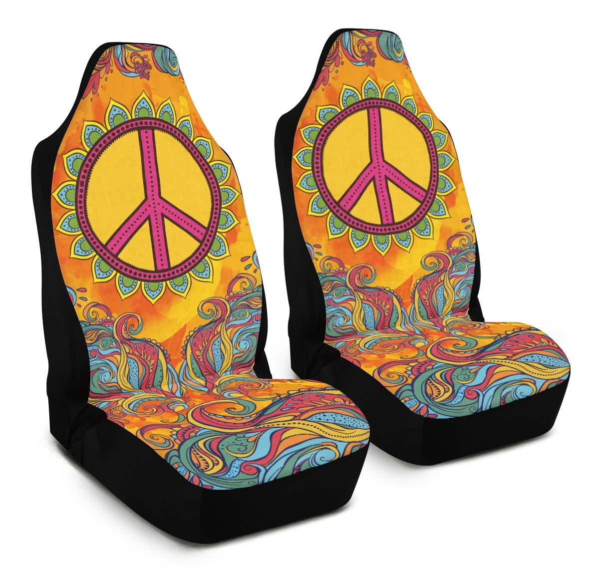 Hippie Car Seat Covers Yes We Vibe