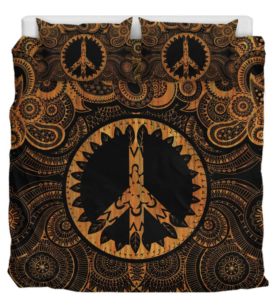 Mandala & Peace Gold Bedding
