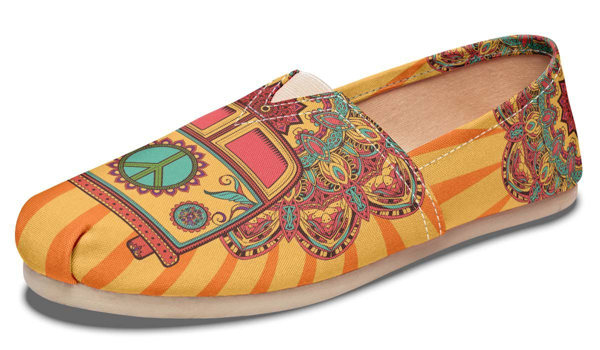 YesWeVibe Hippie Shoes Peace Bus Casual 34jq5ARLc