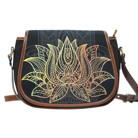 Lotus Saddle Bag