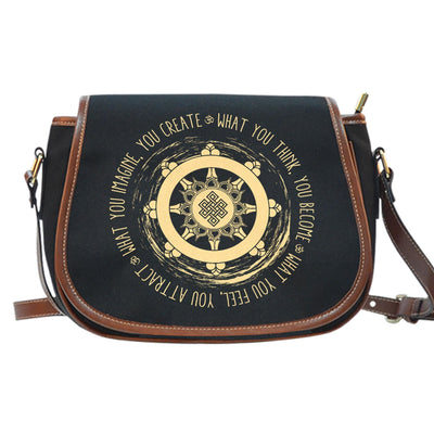 Buddhism What You Think Saddle Bag