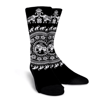 Elephant Black Socks
