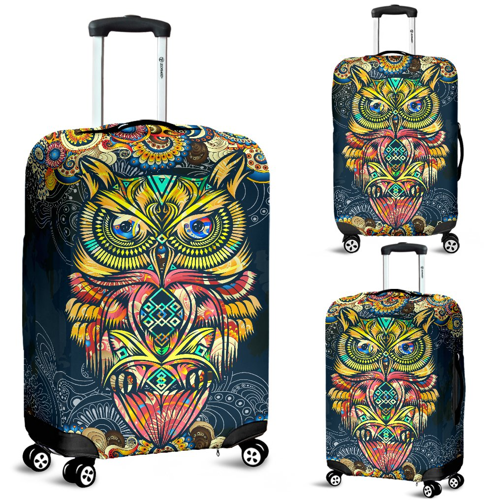 Pinbeam Luggage Cover Boho Chic Paisley Elegant Oriental for Furniture Mandala Travel Suitcase Cover Protector Baggage Case Fits 22-24 inches