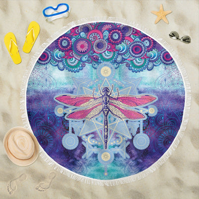 Dragonfly Mandala Purple