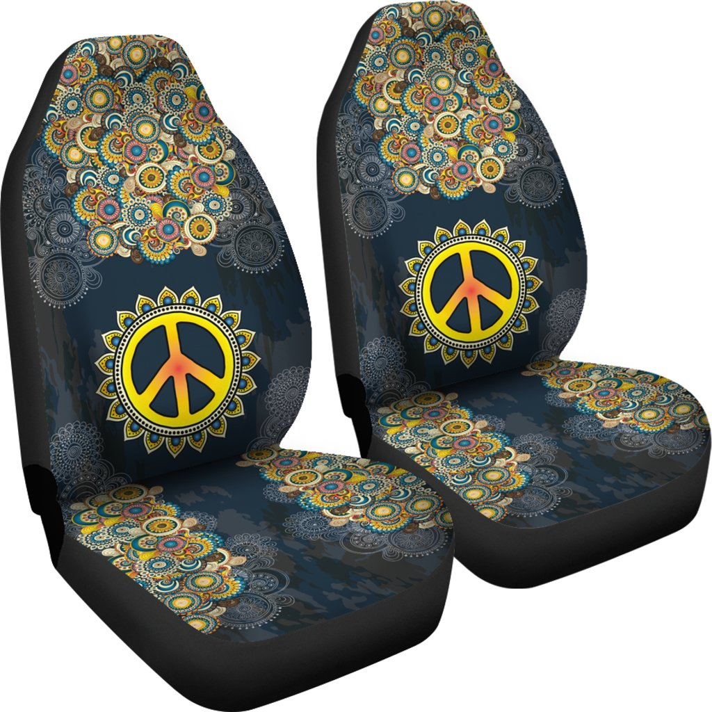 peace mandala sunflower hippie car seat covers yeswevibe. Black Bedroom Furniture Sets. Home Design Ideas