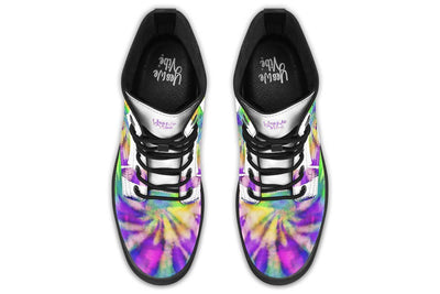 Peaceful Tie Dye White Purple