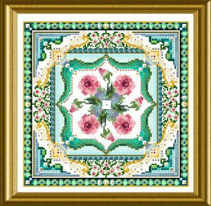 Beaded Marie Antoinette's Rose Tile