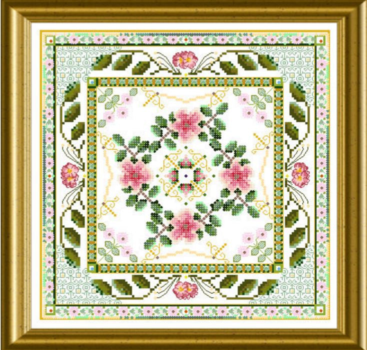 Beaded Rose Tile