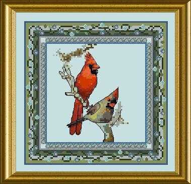 Bird Tapestries - Red Cardinal