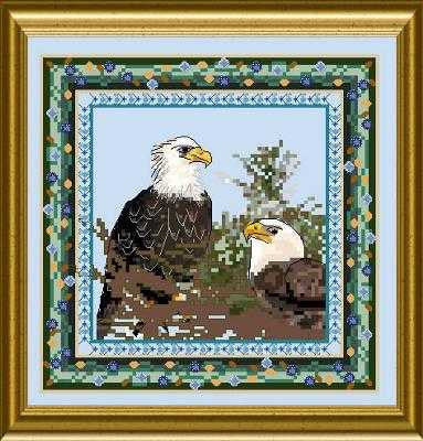 Bird Tapestries - Bald Eagle
