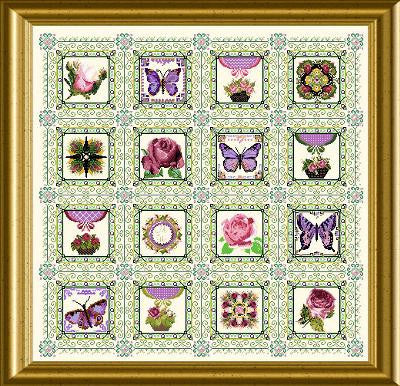 Rose & Butterfly Quilt