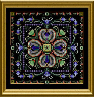 Beaded Scarab Tile