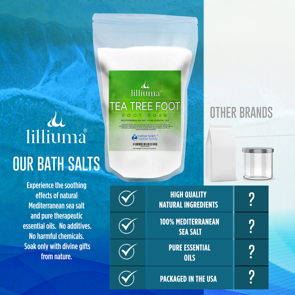 NEW: LILLIUMA TEA TREE FOOT SALT