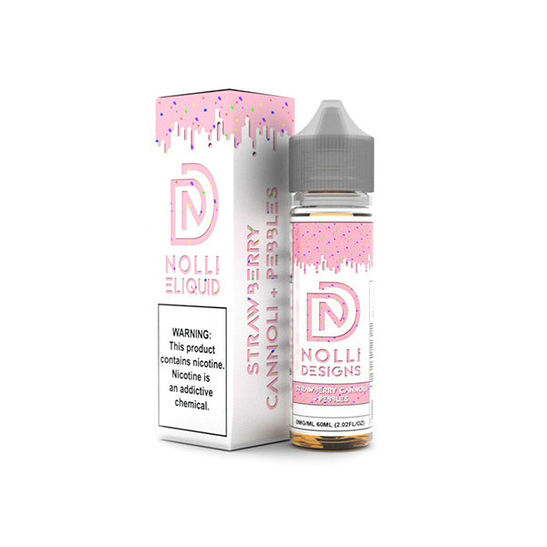 Nolli Eliquid Strawberry Cannoli + Pebbles