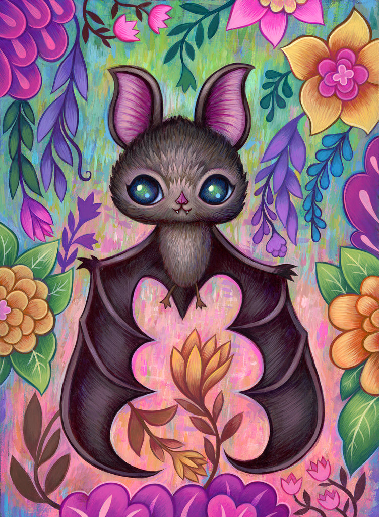 Baby Bat Original Painting