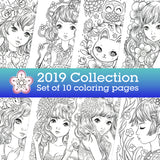 2019 coloring collection | Jeremiah Ketner | Instant Download pdf