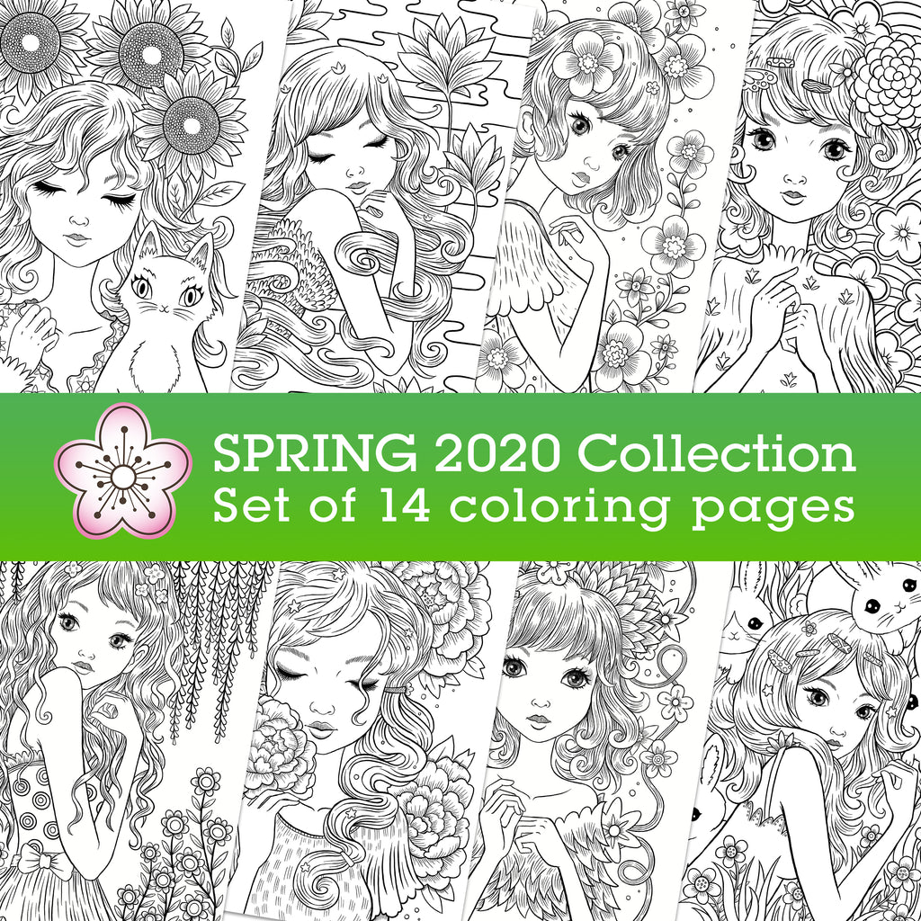Spring 2020 coloring collection | Jeremiah Ketner | Instant Download pdf