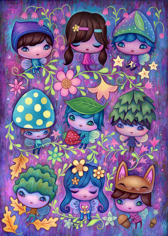 Fairy Sprites Original Painting